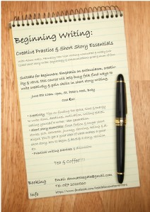 alisons writers course poster